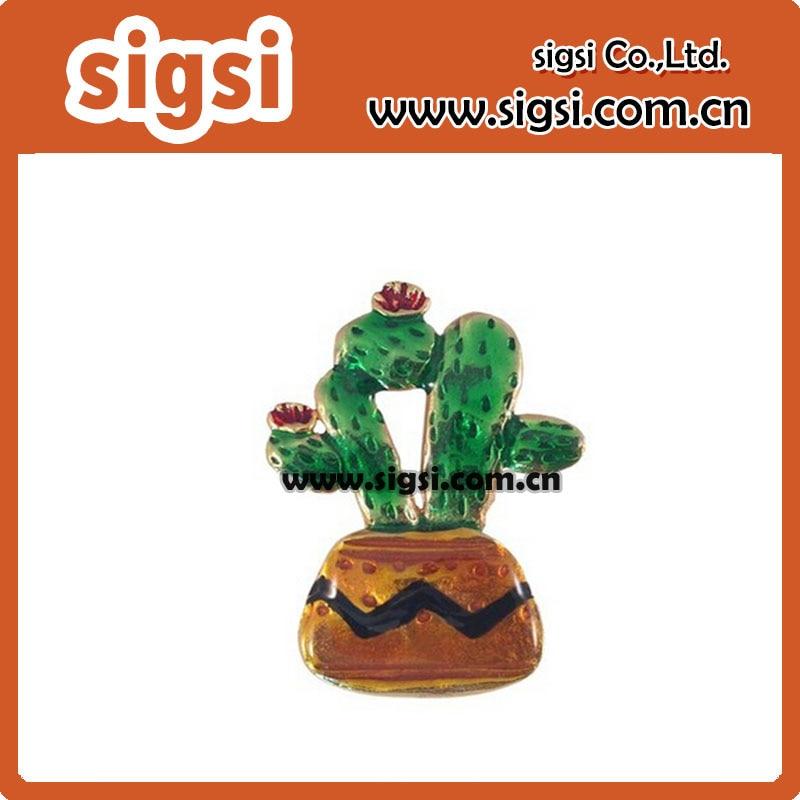 100pcs/lot 50mm Beautiful Zinc Alloy Enamel Potted Cactus Pendant
