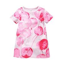Meisjes Katoenen Jurk Roze Bal Prints 2017 Merk Zomer Casual Jurk Dreaming Robe Fille Tuniek Kinderen Kostuum voor Kids Jurken