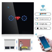 EU/UK Standard WiFi Smart Curtain Switch For Electric Motorized Curtain Blind Roller Motor Shutter Works With Alexa Diamond