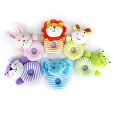 Cute Soft Infant Rattle Sound Hand Grip Shake Bell Cartoon Baby Toys Bed Stroller baby Rattles Stuffed Animal Baby Toy Gift(China)