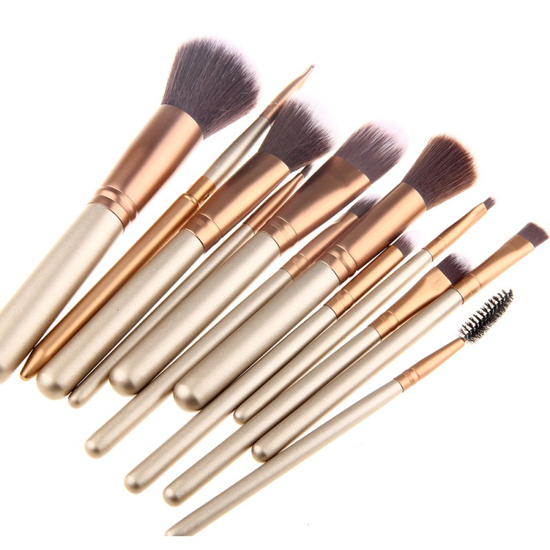 12PCS Makeup Brushes Pro Cosmetic Make Up Brush Set pincel maquiagem For Beauty Blush Foundation Cosmetics AG95 mens watches top brand luxury lige 2017 men watch sport tourbillon automatic mechanical leather wristwatch relogio masculino