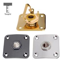 Tooyful 35x35mm Metal Square Guitar Jack Plates Cover for LP Electric Accessories
