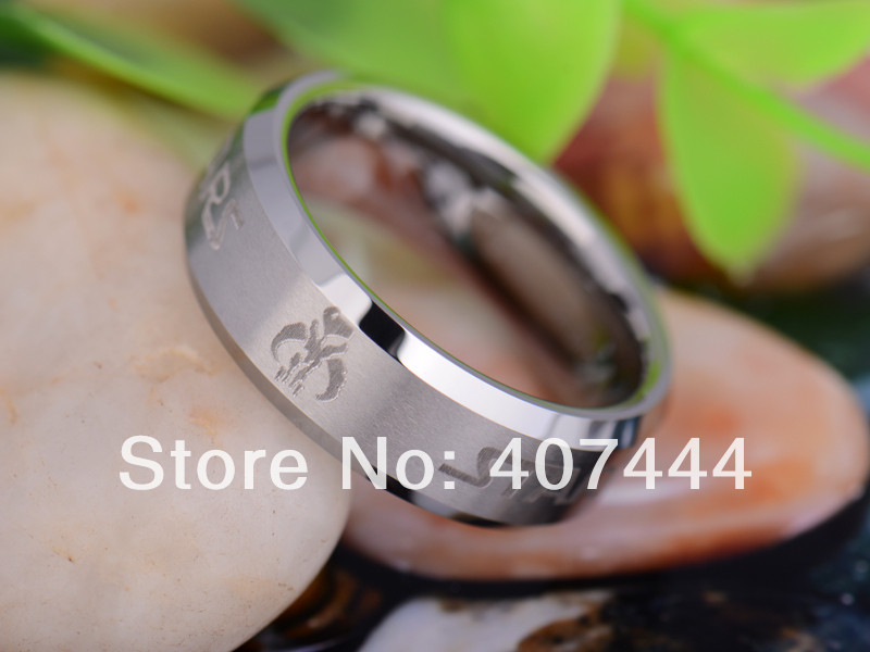 free shipping usa uk canada russia brazil hot sales 8mm matte top silver bevel star wars - Star Wars Wedding Ring