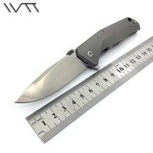 Wtt sistema de cojinetes de acero titanium de la manija m390 hoja plegable táctico del cuchillo que acampa del cuchillo de bolsillo cuchillos de la supervivencia al aire libre herramienta edc