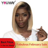 1B 613 Honey Blonde Lace Front Wigs For Women With Baby Hair Remy Straight Human Hair Wigs Bleached Knots You May