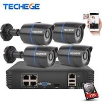 4CH POE NVR HDMI 4PCS 1 0MP IP Camera IR Weatherproof Outdoor 720P CCTV Camera Home
