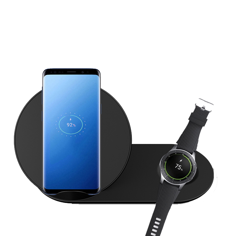 2 In 1 Wireless Charger For Samsung Watch Fast Charge Qi Wireless Charger Holder For Iphone Xs Max XR for Samsung Gear S2 S32 In 1 Wireless Charger For Samsung Watch Fast Charge Qi Wireless Charger Holder For Iphone Xs Max XR for Samsung Gear S2 S3