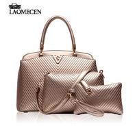 Famous Brands Korea Luxury V Bag Women Leather Composite Bags Stripe Handbags Louis Bag Gold Bolsos