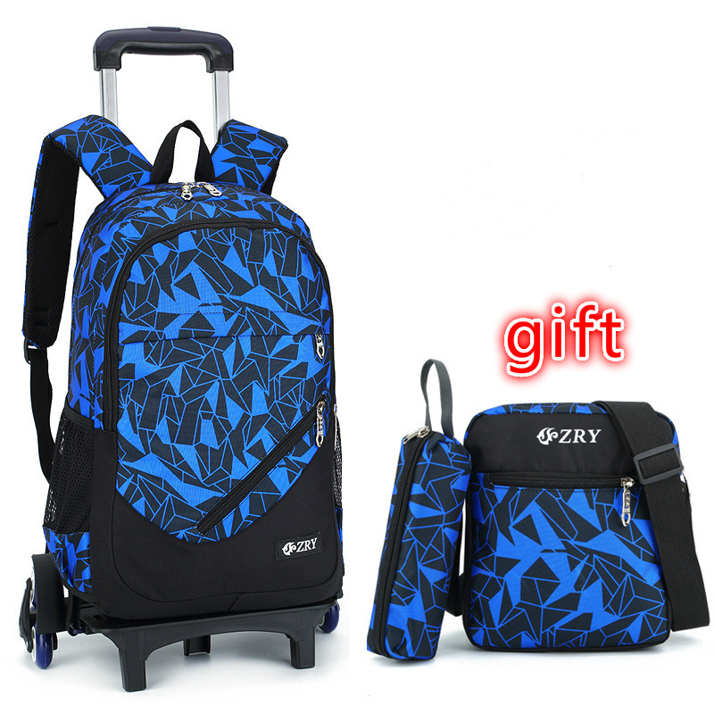 Removable Kids Backpack Trolley School Bags With Wheel Stair Children Backpack Schoolbags kids Book Bag For boys girls Mochilas