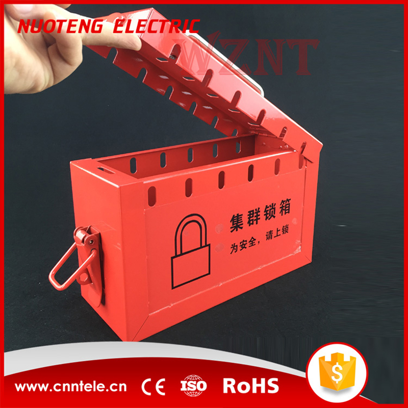 Group lockout kit safety padlock box