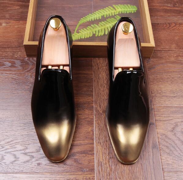 Moda Bege Mão azul Couro Mixcolor Condução Nova Mens Homens Preto Quentes Sapatos Feitos Casuais preto À 2018 Mocassins Vermelho De Casamento Flats AAHPx61