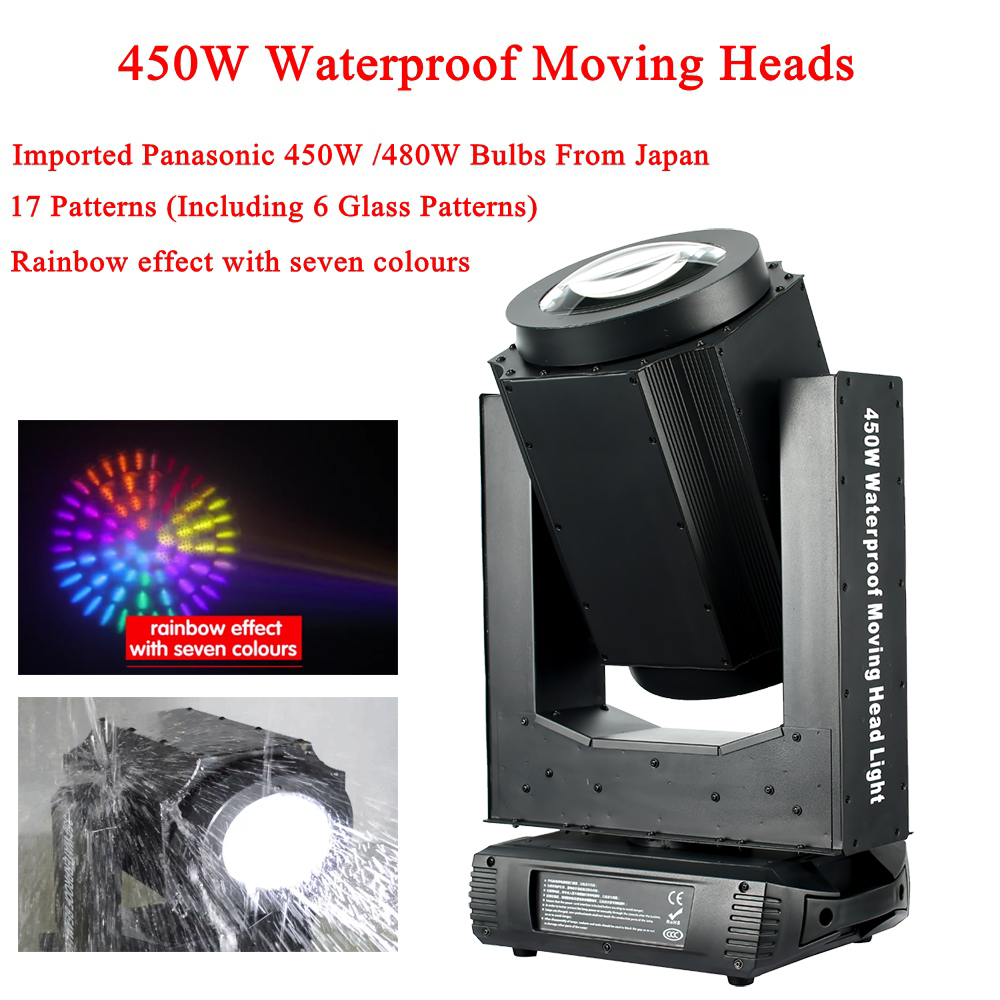New Outdoor Stage Lighting Equipment Panasonic 450W Waterproof Beam Moving Head Lights DMX Sound Disco DJ Party Lights