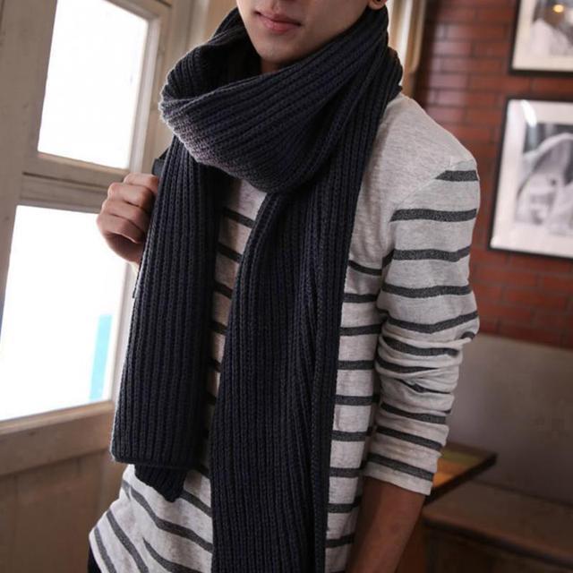 Корейский стиль Зима Женщины Мужчины Модный вязаный шарф зимние теплые шарф шарфы платок пары шерстяной шарф из ткани