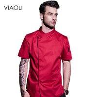 Viaoli Hotelu Chef Żywności Usług Ubrania Kuchnia Gotowanie Hotelowe Uniformy Jednolite Kurtki Kombinezony Odzież z długim Rękawem Mężczyzn 008