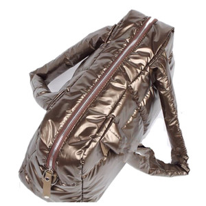 Image 3 - 2020 New Winter Women Space Cotton Handbags casual Ladies Bag Down Fashion Bright Shoulder Bag Female tote Bolsas sac a main