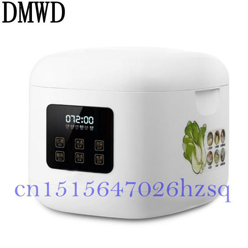 DMWD 20W Household Electric Multifunctional Pickle machine for sauerkraut/rice wine/red wine High capacity 6.0L Digital display salter air fryer home high capacity multifunction no smoke chicken wings fries machine intelligent electric fryer