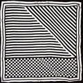 100% Silk Scarf Women Scarf Stripes Neckerchief Scarf Silk Bandana 2017 Foulard Print Small Square Silk Scarf Luxury Lady Gift