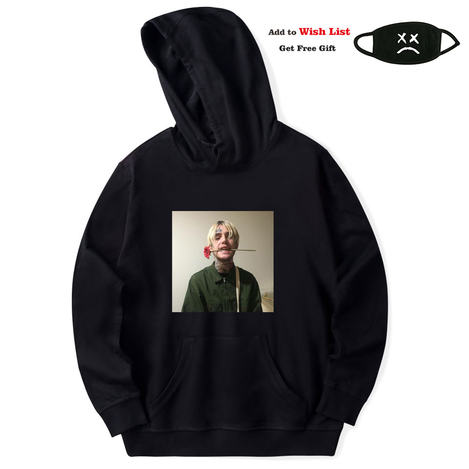 VAGROVSY Fleece Hoodie Sweatshirts Rapper Harajuku Lil Peep Sudaderas Streetwear Hip-Hop