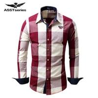 Gratis Verzending 2017 Hot Koop Nieuwe Herenkleding Vest Lange Mouwen Katoenen Plaid Shirt Cowboy Revers shirt CXY49
