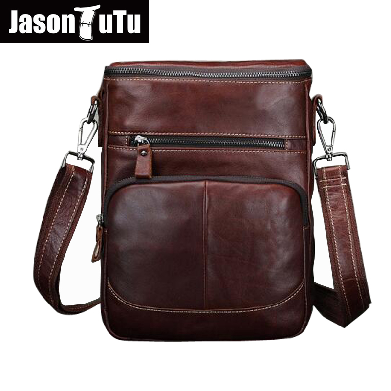 JASON TUTU Brand Men Messenger Bags Vintage Genuine Leather Small shoulder bag Cowhide CrossBody Bags high quality HN55 hot 2017 genuine leather bags men high quality messenger bags small travel black crossbody shoulder bag for men li 1611