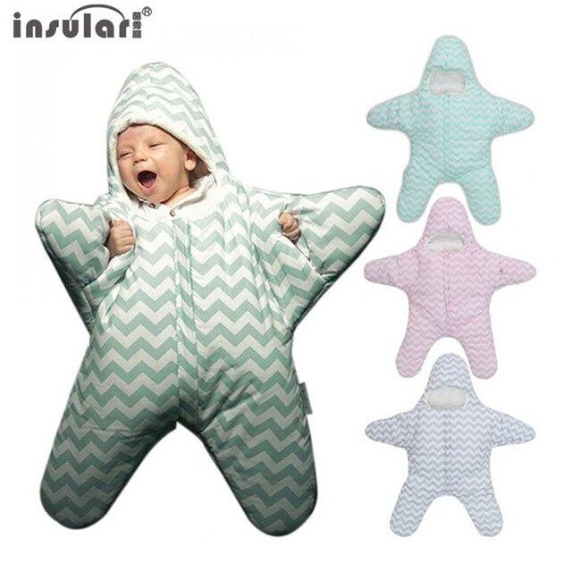 insular Brand Hot Sale Baby Sleeping Bag Cute Starfish  Newborns Winter Babies Sleep Sack Warm Baby Blanket Swaddle Sleepsacks