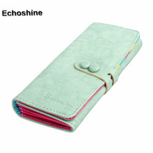 2016 newest   Designer Clutch long Wallet  PU Leather  Zipper Small Fresh Wallet Mobile Phone Bag