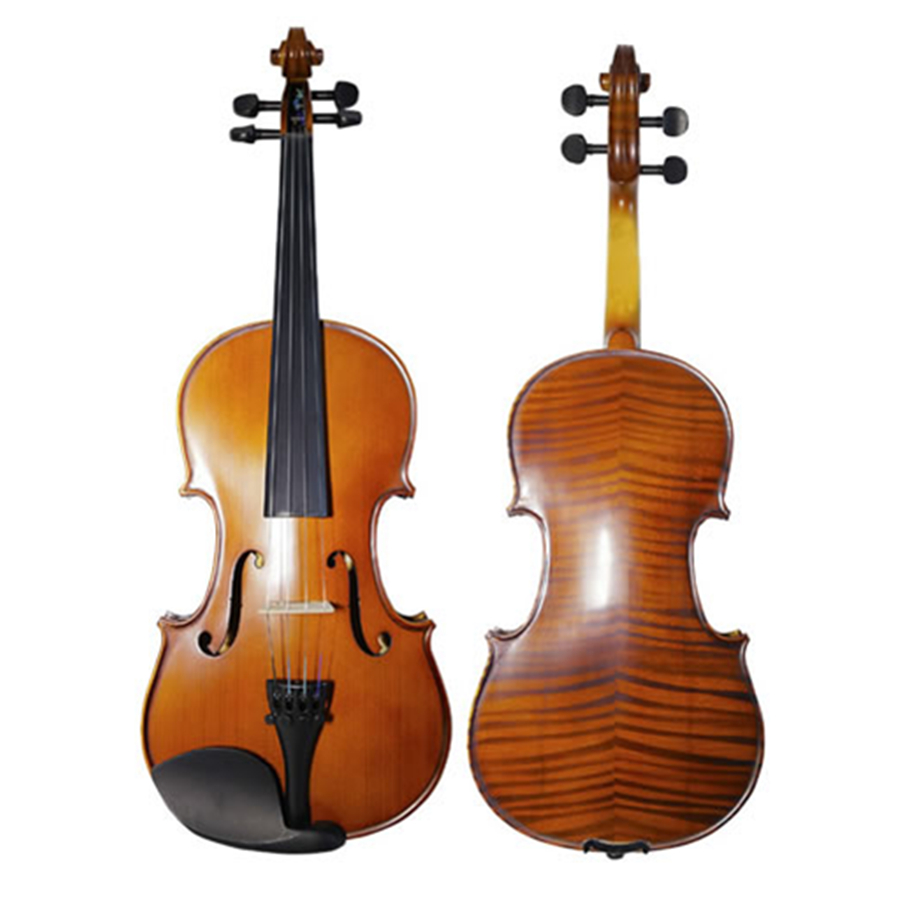 Art Stripes Maple Acoustic Violin Fiddle Stringed Instrument with Full Accessories Violino for Beginner Students TONGLING Brand image