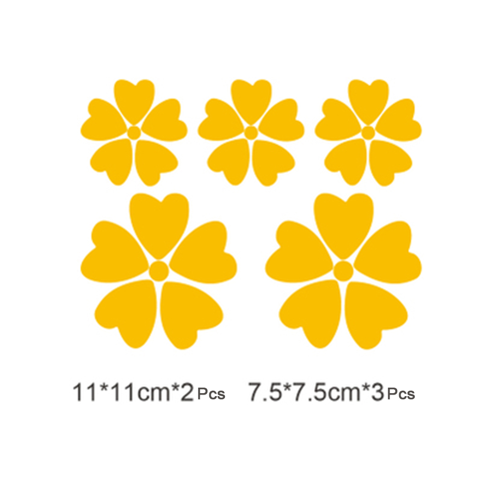 Image 2 - OCT 17 Romanti Cherry blossom Car Vinyl Whole Body Graphic Decal Sticker Styling 5 pcs/pack-in Car Stickers from Automobiles & Motorcycles