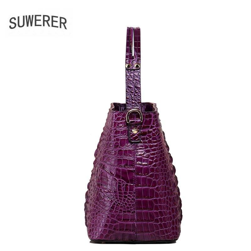 2017 new fashion crocodile pattern handbag Retro shoulder Messenger bag Women