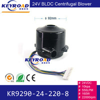 24V 10kPa 160W Powerful Fan High pressure and High Speed BLDC Centrifugal Electric Large Air Flow Blower for Seeder