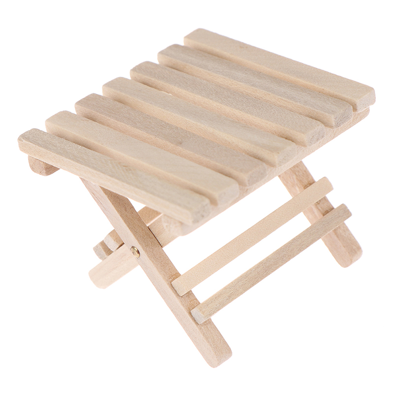 1:12 DIY Doll House Miniature Furniture Beach Folding Table For Kids Toys For Mini Miniatures Furniture Toys Gifts For Children