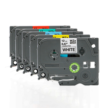 FGHGF için geçerli kardeşler yazıcı PT E100 etiket makinesi şerit 12mm 9 18 24 36 PT E100B D210 baskı kağıdı etiket şerit