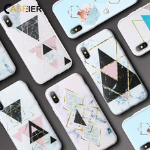 CASEIER Silicone Case For Samsung Galaxy S9 S8 Plus A7 2018 Note 8 9 Marble Geometric J3 J5 2017