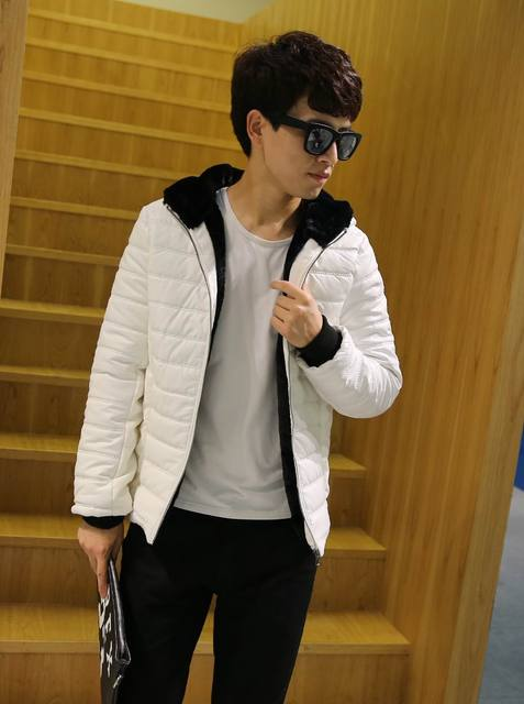2016 New Winter Brand Men Faux Leather Jacket Imitation Rabbit Hair Hood Plus Size M-7XL High Quality Fashion Thick Warm Coat