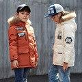 Brand New Зимние Мальчики Одежда Дети Утка Вниз Теплая Куртка Девушки Случайные Капюшоном Верхняя Одежда Мальчики Ветрозащитный Толстые Куртки 81515
