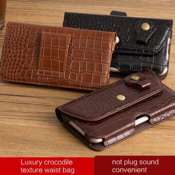 Genuine Leather Real Crocodile Grain Case For Xiaomi redmi 4 Pro case 5.0Inch Pocket Hip Belt Pack Waist Bag Cover