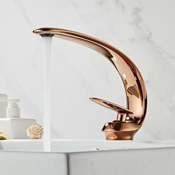 Basin Faucet Rose Gold/Black/Gold Bathroom Sink Mixer Tap Brass Wash basin Faucet Single Handle Single Hole Crane For Bathroom smesiteli rose gold bathroom basin faucet 100% brass single handle cold and hot water mixer brushed gold rose tap
