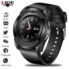 LIGE New Smart Digital Watch Information Vibration Reminder Sport Pedometer Clock LED Color Screen Bluetooth Men