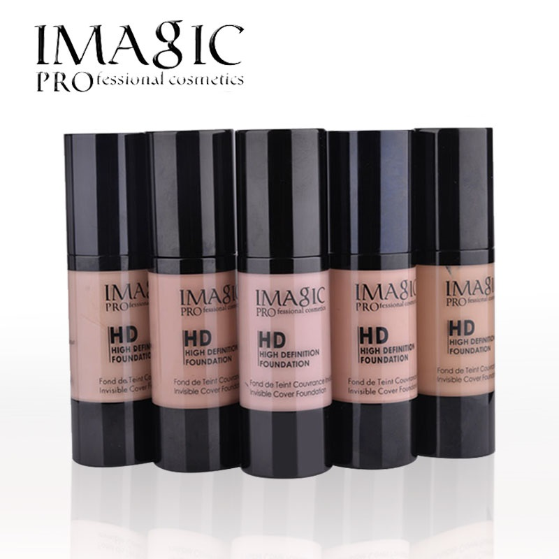 imagic hd bright liquid foundation face makeup base maquiagem fond de teint moisturizer cream. Black Bedroom Furniture Sets. Home Design Ideas