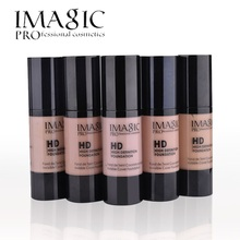 IMAGIC HD Bright Liquid Foundation Face Makeup base maquiagem fond de teint moisturizer cream skin care full size 6 colors 30ml