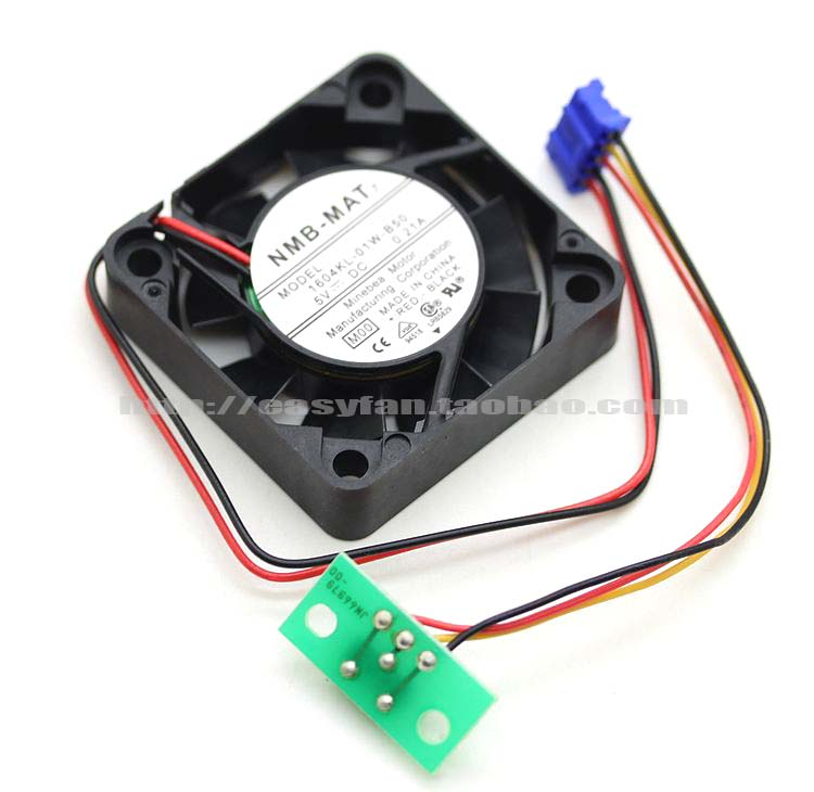 NEW NMB-MAT Minebea 1604KL-01W-B50 4010 5V 0.21A 4CM Double Ball bearing cooling fan