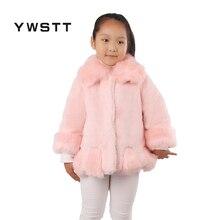 Ywstt Children 's imitation fur coat autumn and winter Girls Luxury Faux Fur Coats & Jackets  Kids Faux Fur Coats Thick Clothing