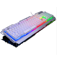 Multiple Color Rainbow LED Backlit Large Size USB Wired Mechanical Feeling Multimedia Gaming Keyboard For  computer laptop цена