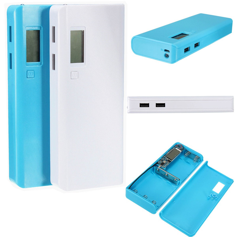 Fashion Wholesale 5X 18650 Battery Charger DIY USB Power Bank Case Kit Box For All Cell Phone
