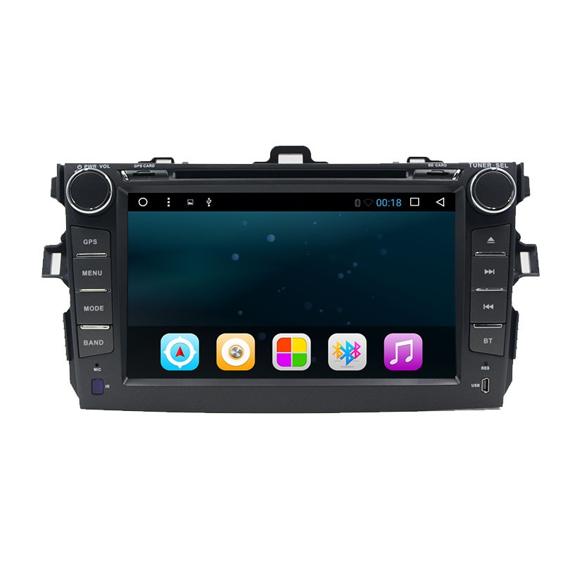 8 inch 2 din Android 7.1 car dvd player for Toyota Corolla 2007 2008 2009 2010 2011 Quad Core 8 inch 1024*600 screen car stereo klyde 8 2 din android 8 1 8 core car radio for toyota rav4 2013 2015 1024 600 car audio player