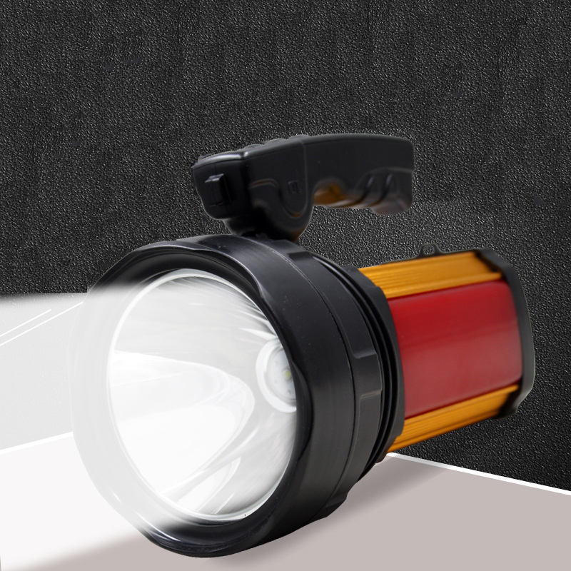Portable Spotlights Led Work Light Rechargeable Searchlight Battery Camping Lights Lantern 3Modes With Flashlight Warning Light warsun 80w high power 2 colors lights portable lantern rechargeable waterproof searchlight desk lamp side light built in battery