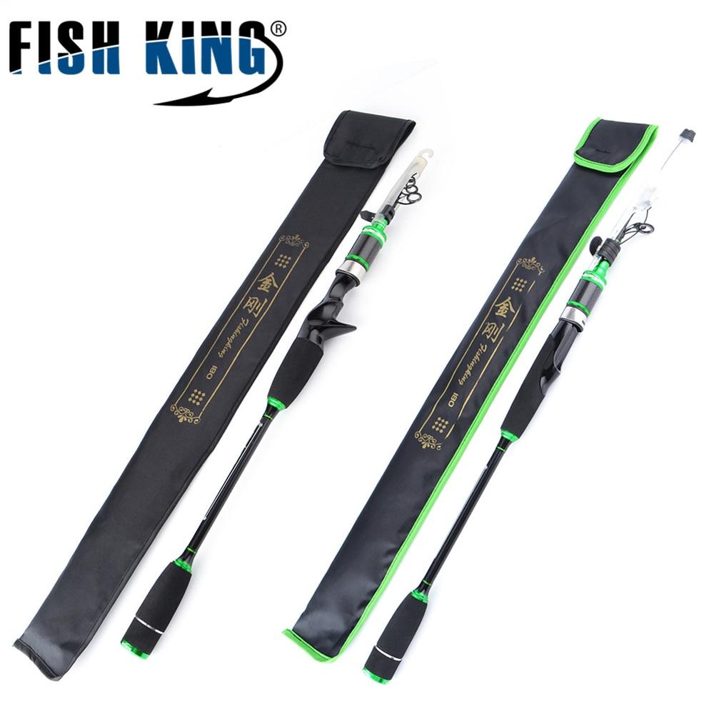 FISHKING 2.1m 2.4m 2.7m 3m Lure Fishing Rod Casting Type 7-28g Lure Weight Anti-scratch Paint Carbon Rod 6SEC/7SEC