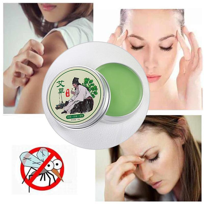1pc Massage Cream Ai Tsao Balm Anti-mosquito Bite To Stop Itching Cool Moxibustion Ointment Cool Oil Antibacterial Massage Cream