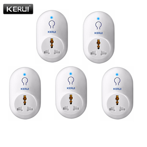 Image 1 - KERUI 5pcs/lot Wireless EU US UK AU Standard Power Socket 433MHz Smart Switch Socket For KERUI Home Security Alarm System