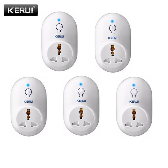 KERUI 5pcs/lot Wireless EU US UK AU Standard Power Socket 433MHz Smart Switch Socket For KERUI Home Security Alarm System